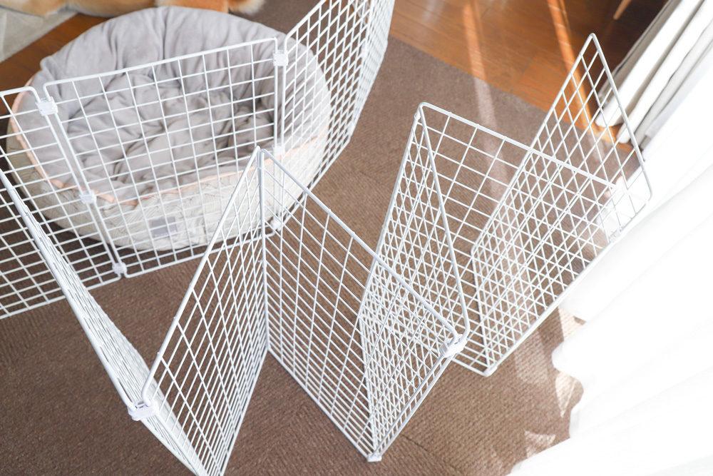 ダイソーのネットで手作りペットゲート
